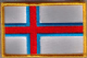 Faroe Islands Embroidered Flag Patch, style 08.